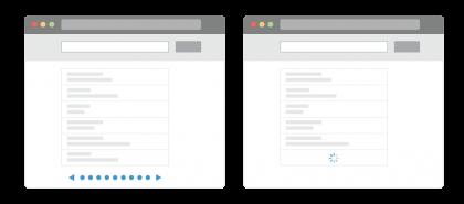 ما الفرق بين ترقيم الصفحات وبين التمرير اللانهائي؟