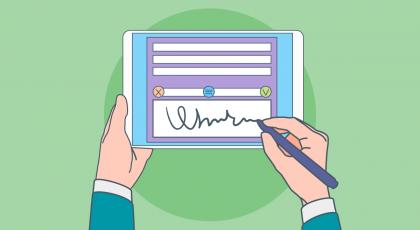 طريقة التوقيع الإلكتروني على المستندات والخطابات