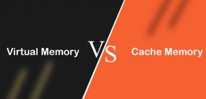 الفرق بين  الذاكرة الافتراضية وذاكرة التخزين المؤقت
