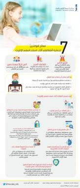 7نصائح للوالدين لحماية أطفالهم أثناء استخدامهم الإنترنت.